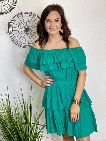 The Ibiza Dress in Green