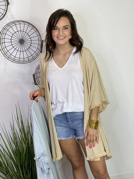 The Frayed Knit Cardigan - 2 Colors