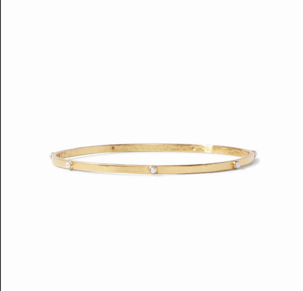 JV Crescent Stone Bangle
