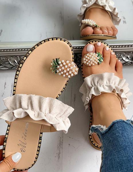 Pineapple Toe Ring Sandals