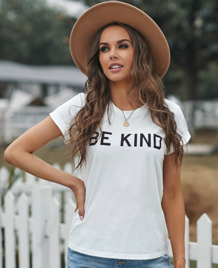 White Be Kind Short Sleeve Tee