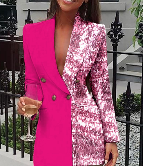 Pink and Sequin Blazer