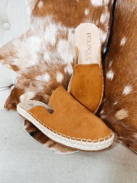 Brown Suede Mule