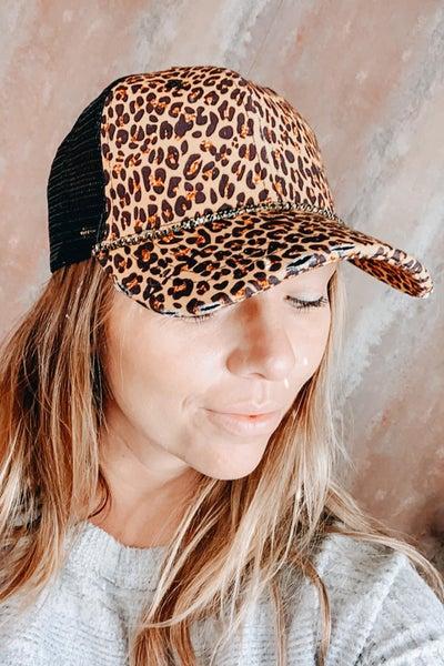 Cheetah Bling Ball Cap