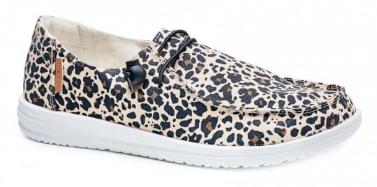 Leopard Loafer w/ Bungee Tie
