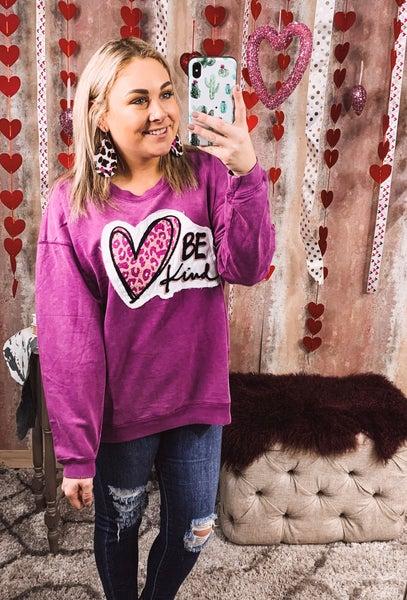 Be Kind Heart Sweatshirt