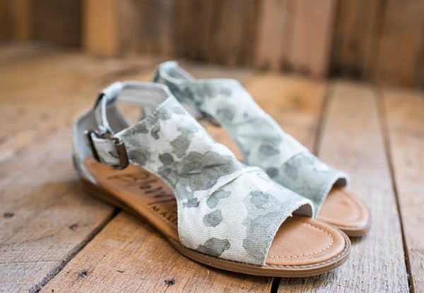 Camo Splatter Sandal with Ankle Buckle
