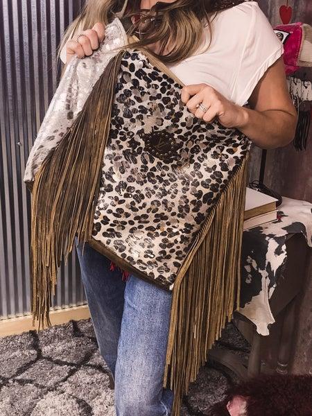 Shoulder Bag w/ Fringe Detail