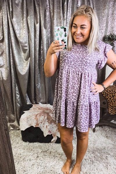 Lavender Cheetah Dress