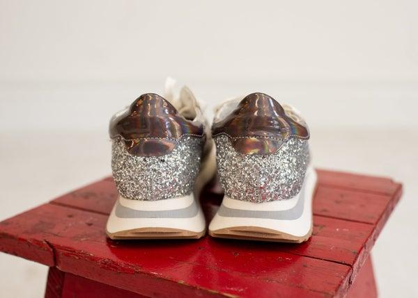 Taupe Glitzy Street Sneaker