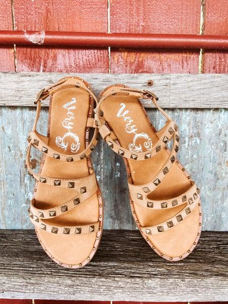 Tan Studded Sandal