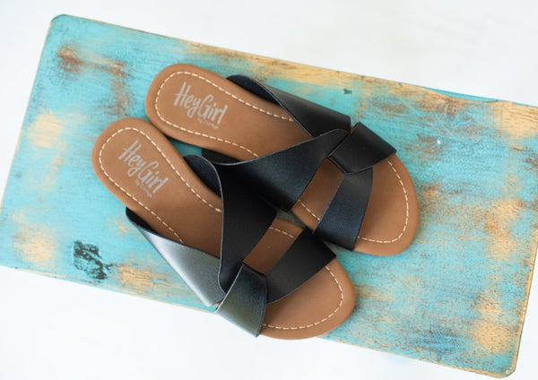 Black Twist Sandal