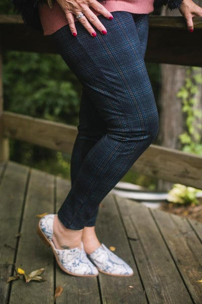 Charcoal Printed Pull On Legging