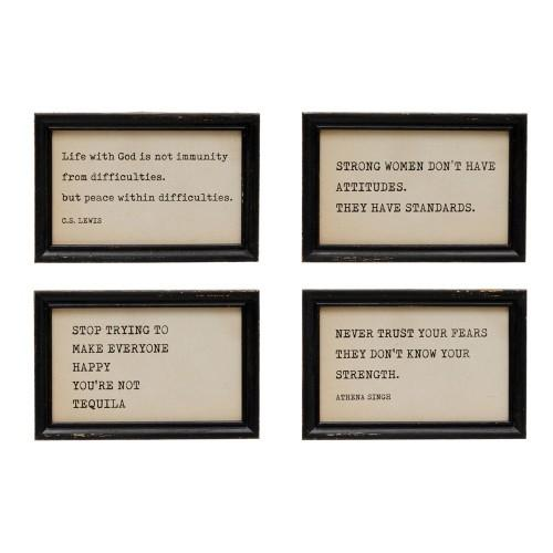 Wood Framed Wall Decor with Quote