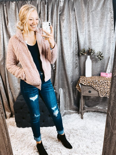 Pull Zip up Sherpa