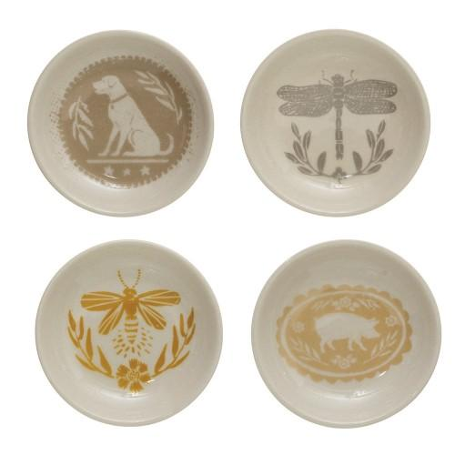 "3"" Round Stoneware Plate"