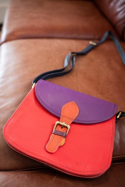 Rounded Leather Bag