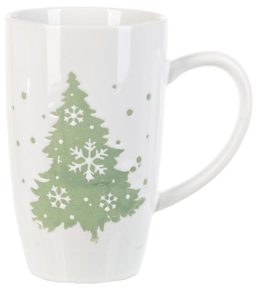 White Mug w/ Green