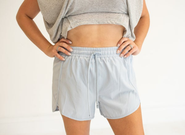 Light Blue Running Shorts