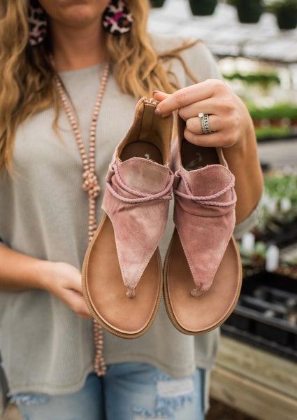 Blush Canvas Tie Dye Sandal