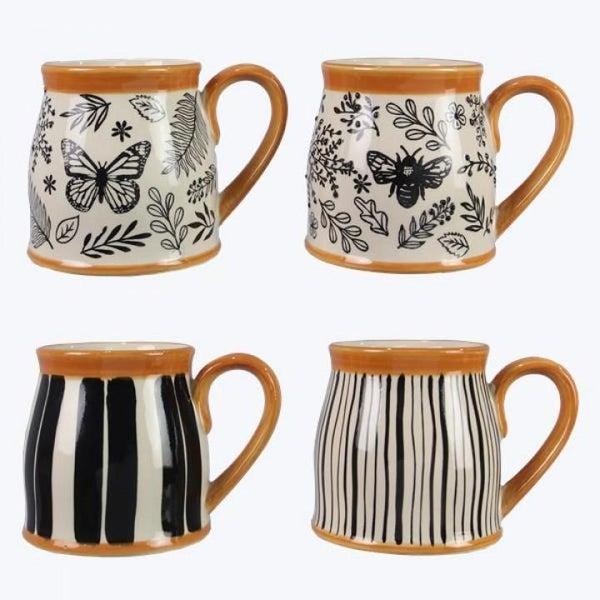 Black & Natural Botanical Mug