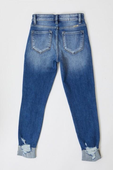 High Rise Ankle Skinny with Distressing