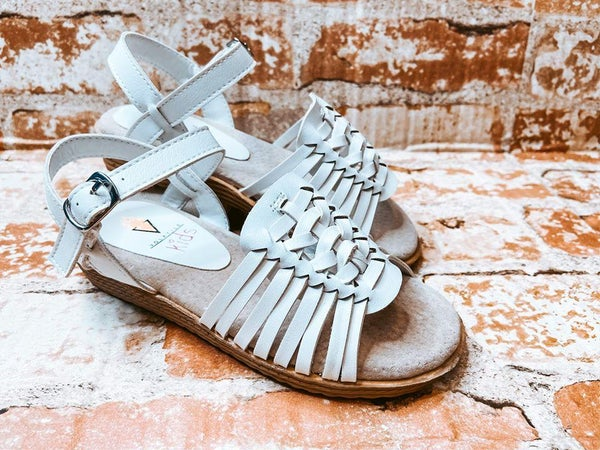 Kids Braided Child Wedge Sandal