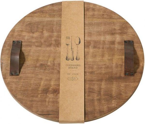 Round Oversized Wood Platter