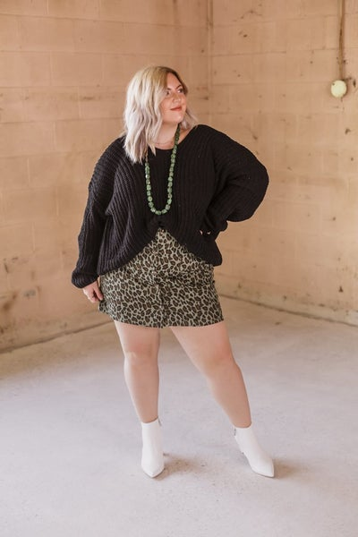 Green Cheetah Mini Skirt