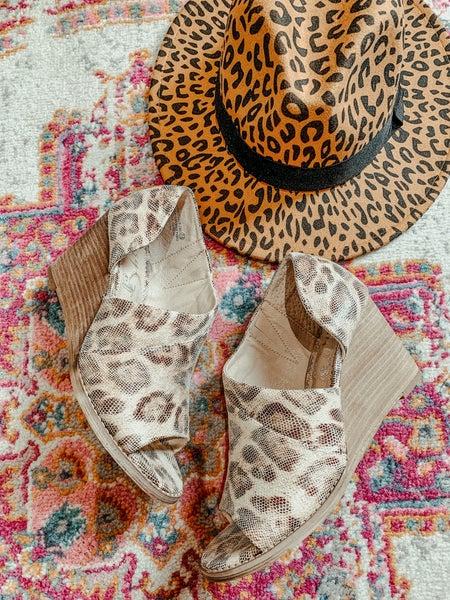 Leopard Peep Toe Wedge