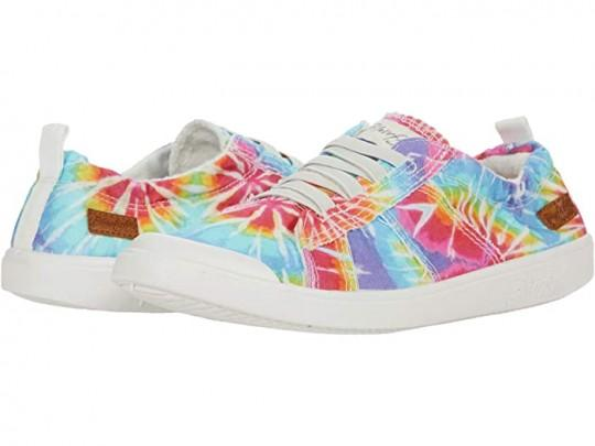 Multi Tie Dye Sneaker w/ Elastic Tie