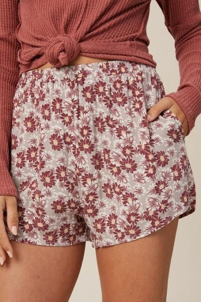 Floral Printed + Lined Shorts