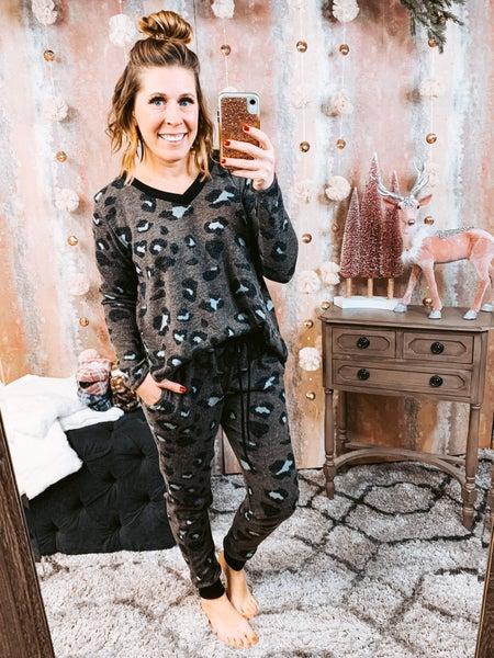 Charcoal Cheetah Pants