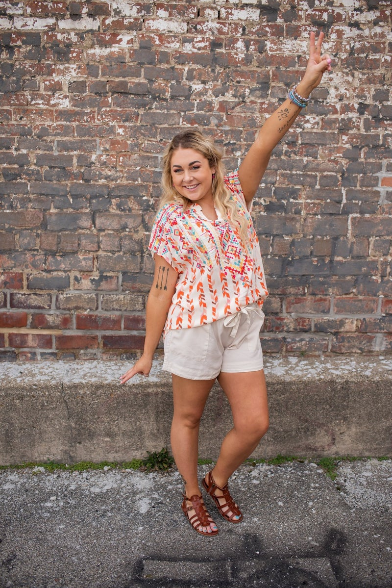 Side Pocket Shorts w/ Elastic Waist