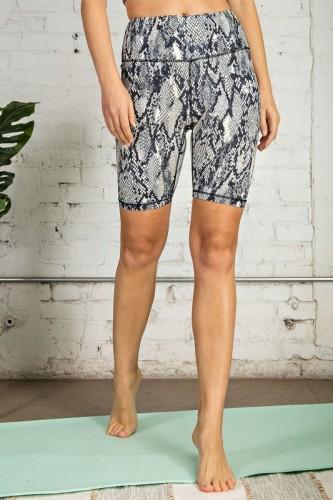 Snake Print Biker Shorts