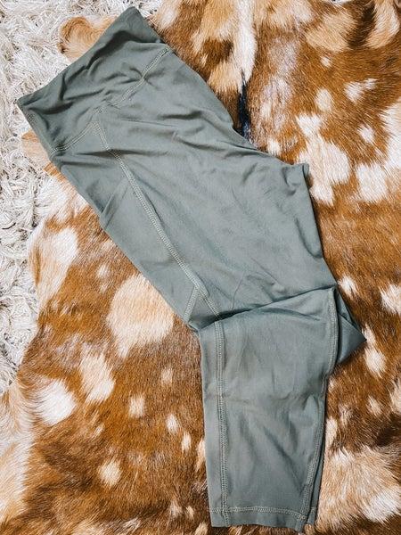 Green Leggings w/ Pocket