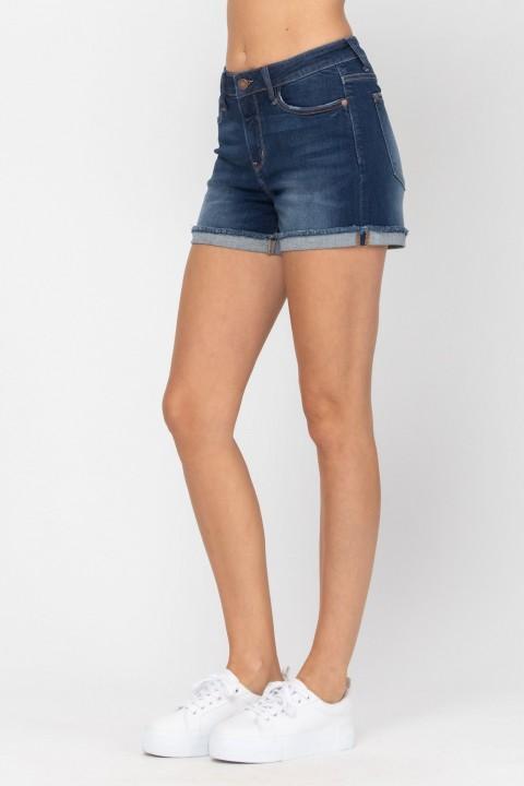 Cuffed Hem Shorts