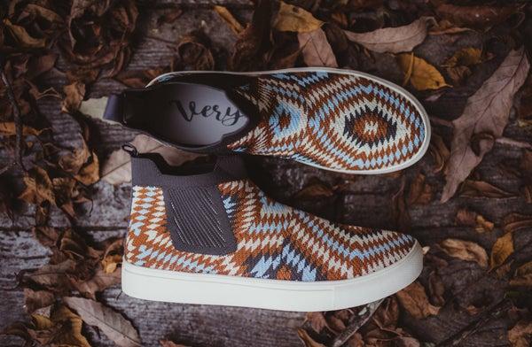 Aztec Inspired Woven Slip on Sneaker