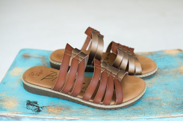 Two Tone Braided Sandal