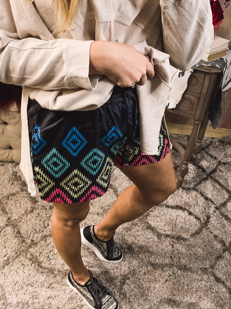 Aztec Inspired Shorts