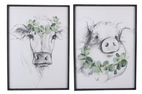 Wood Framed Animal Wall Art