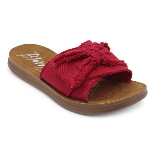 Red Top Bow Slide On Sandal