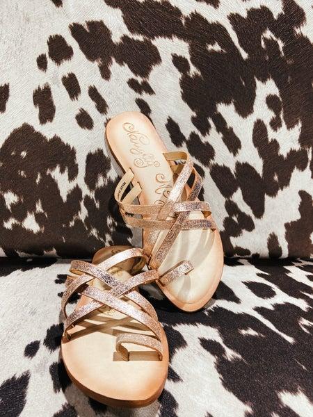 Rose Gold Cross Sandal