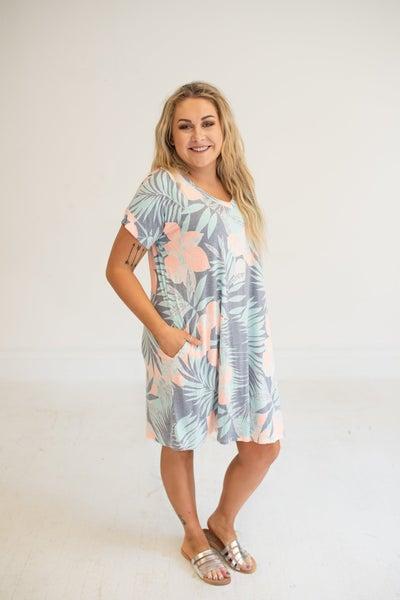 Palms Neon Floral Dress
