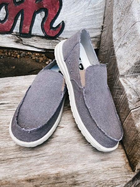 Men's Slip On Gray Shoe