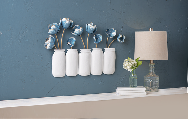 Mason Jar + Tulip Wall Hanging