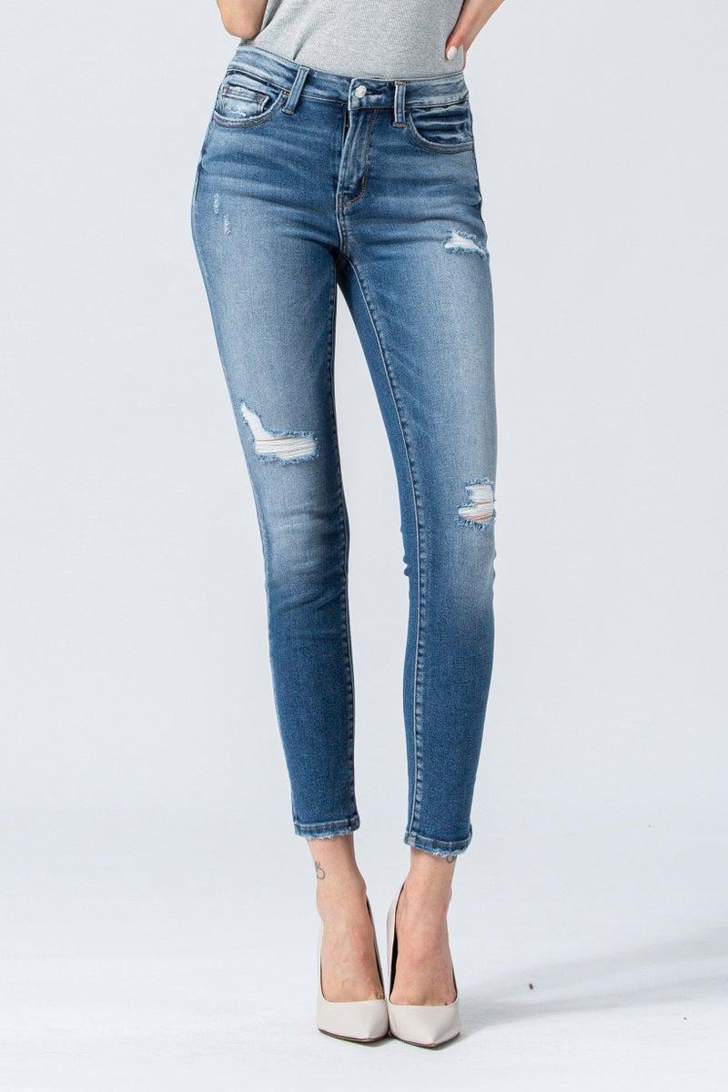 Ankle Skinny Vintage Distressed Jean