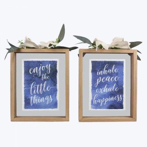 Floating Wood Frame Sign