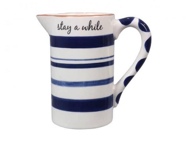 Small Blue & White Pitcher