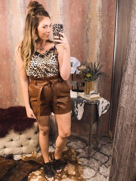 Cheetah Cami Top w/ Lace